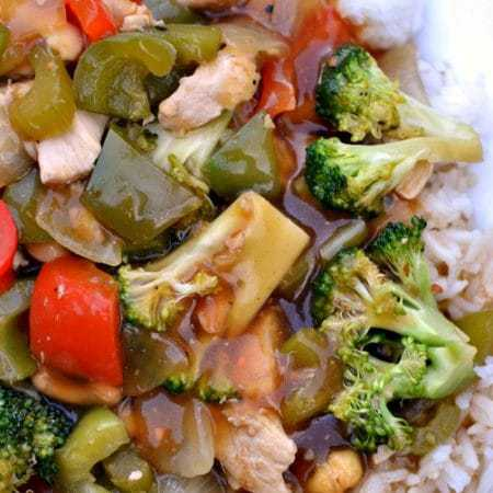 Easy Cashew Chicken Skillet