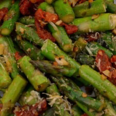 Sun Dried Tomato Parmesan Asparagus