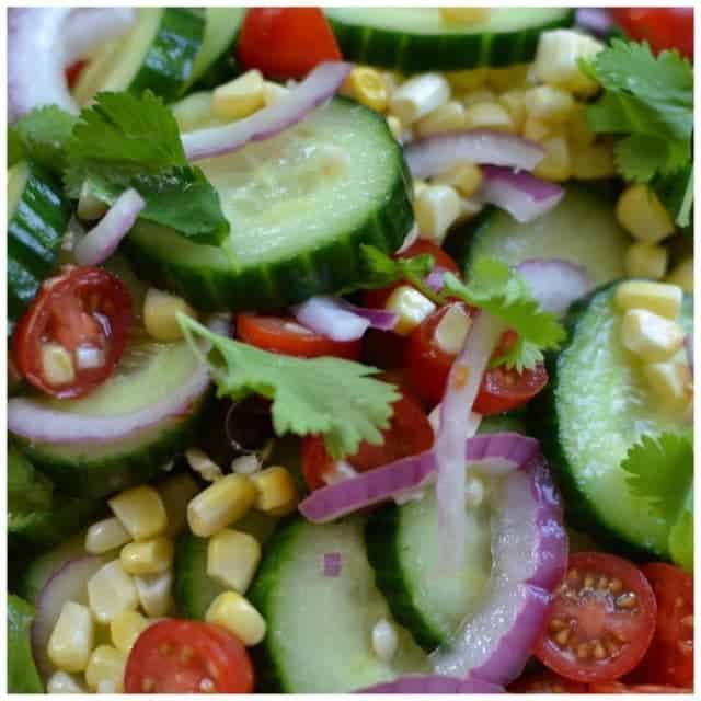 This Cucumber Salad with Lime Vinaigrette is easy delicious andhellip