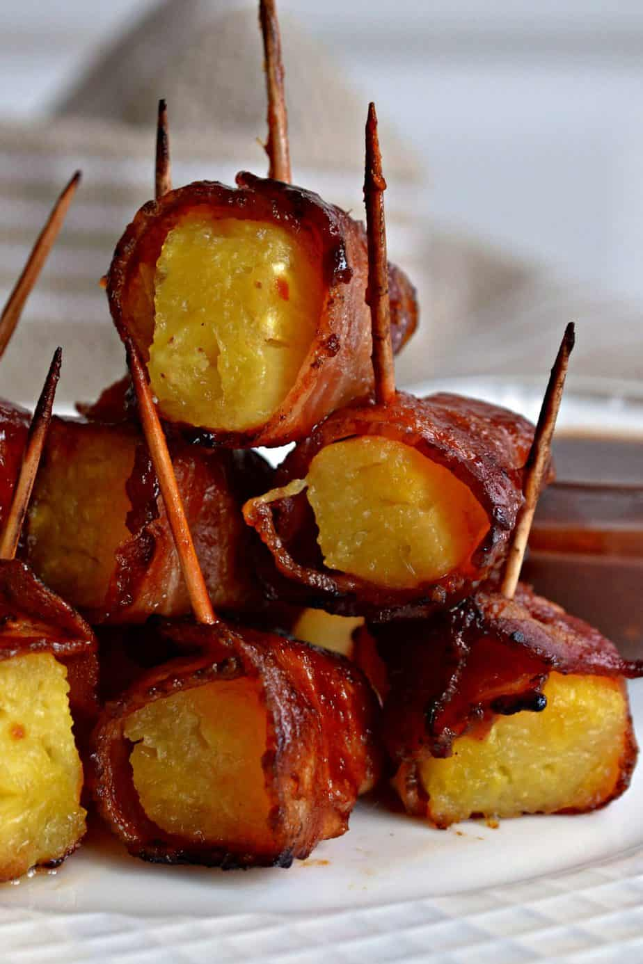 Smoked Bacon Wrapped Pineapple