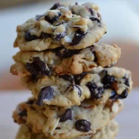 Dark Chocolate Cherry Almond Cookies