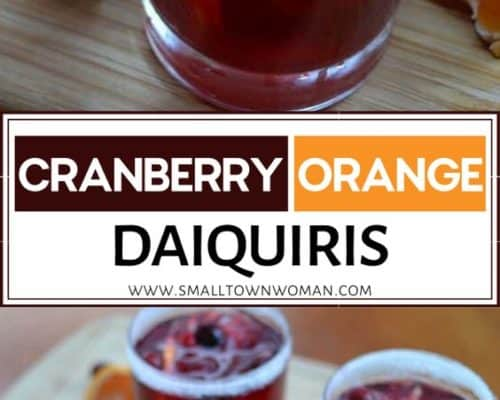 Easy Cranberry Orange Daiquiris
