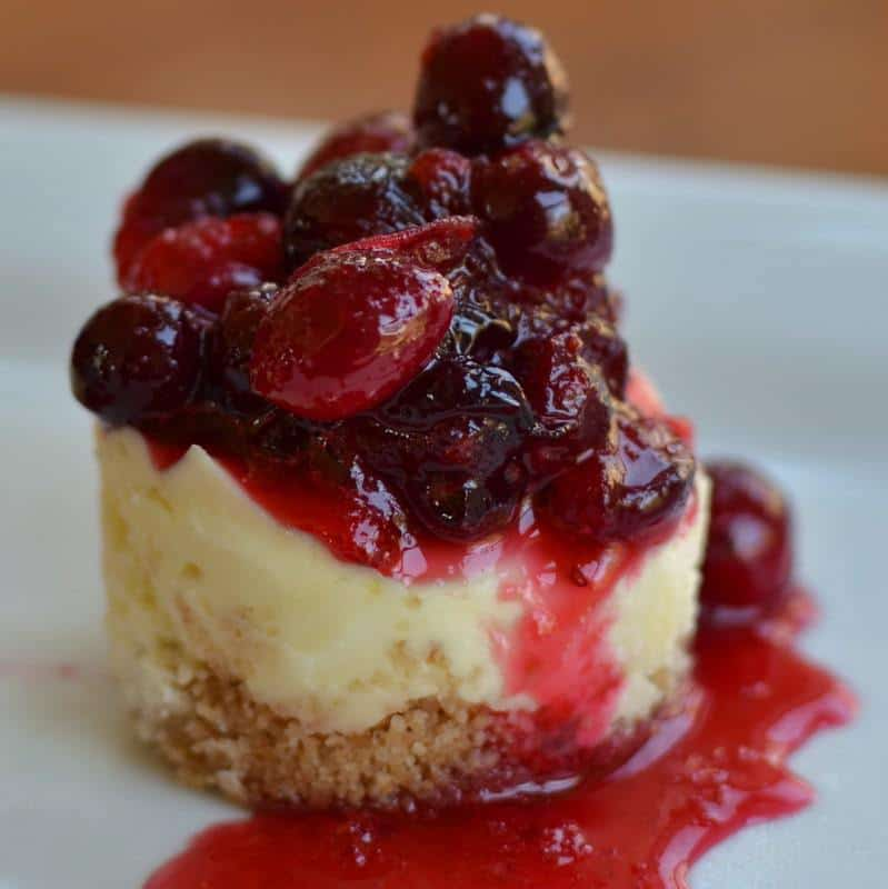 Mini White Chocolate Cranberry Cheesecakes | Small Town Woman