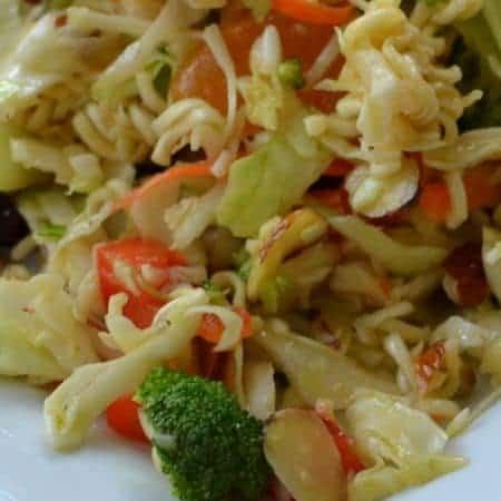 Orange Almond Cherry Ramen Noodle Salad
