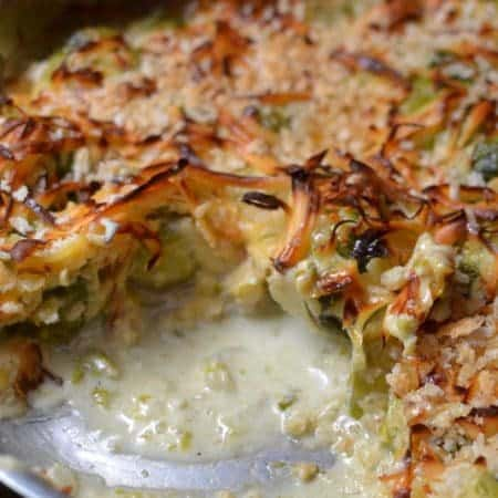 Quick Brussels Sprouts Au Gratin