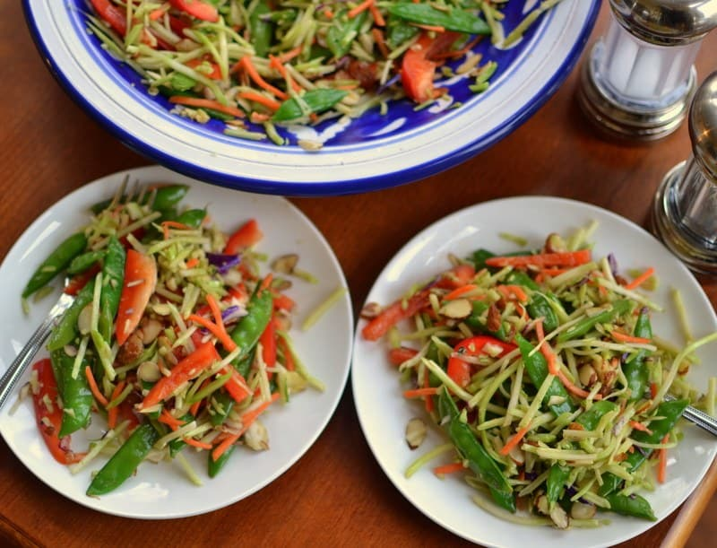 Asian Broccoli Slaw with Sesame Ginger Dressing | Small ...