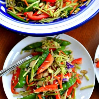 Broccoli Slaw with Sesame Ginger Dressing