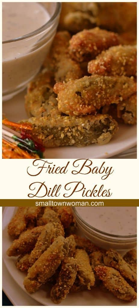 Fried Baby Dill Pickles with Creamy Buttermilk Ranch Dipping Sauce