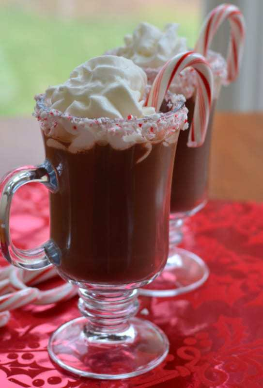 Delicious Peppermint Hot Chocolate