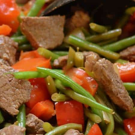 Sweet Ginger Beef and Beans