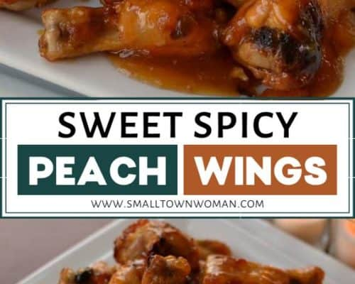 Sweet Spicy Peach Wings