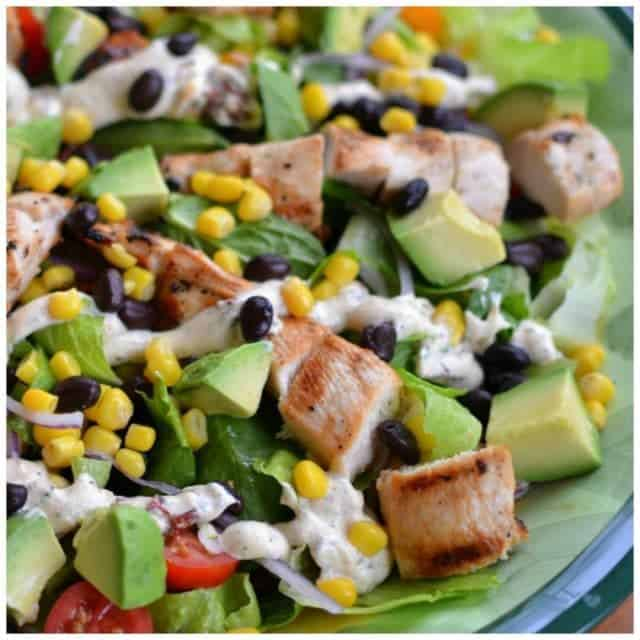 This beautiful Grilled Chicken Southwest Chopped Salad is loaded fullhellip