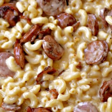Bacon Chicken Sausage Macaroni and Cheese