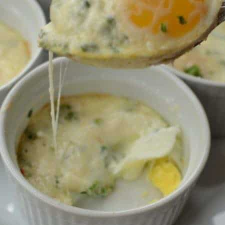 Baked Creamy Herb Parmesan Eggs