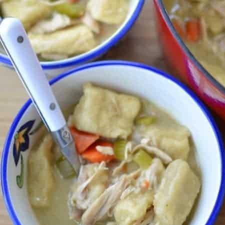 Chicken & Cracker Barrel Style Doughy Dumplings