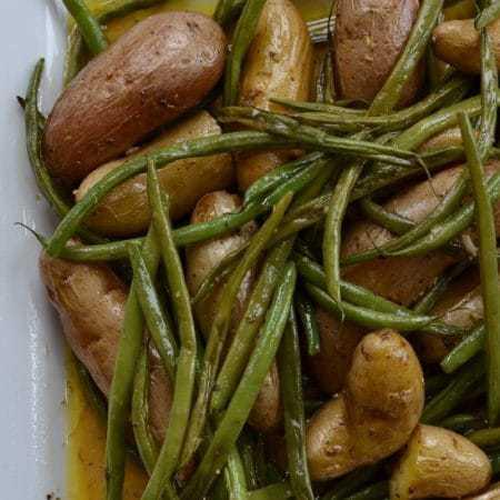 Dijon Vinaigrette Fingerling Potato Green Bean Salad