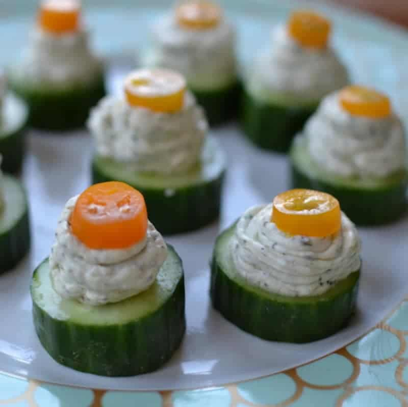 Herb cream cheese cucumber bites are a simple, fresh appetizer that's easy to pull together for a party