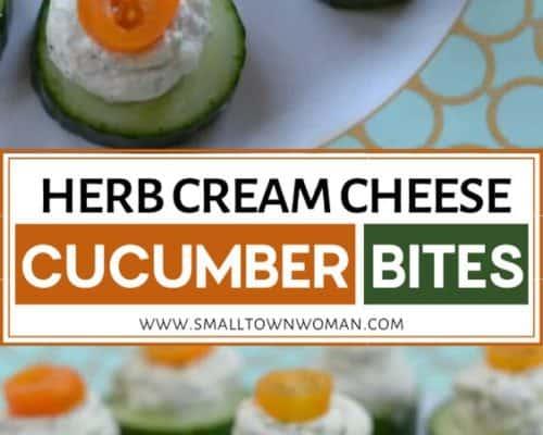 Herb Cream Cheese Cucumber Bites