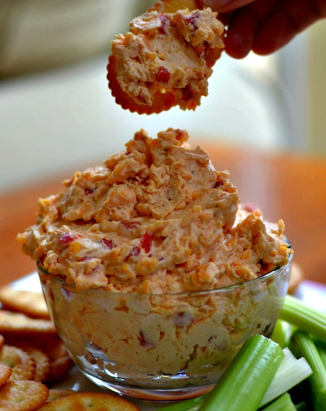 This easy to make flavor packed Southern Pimento Cheese is sure to be the hit of your next party.