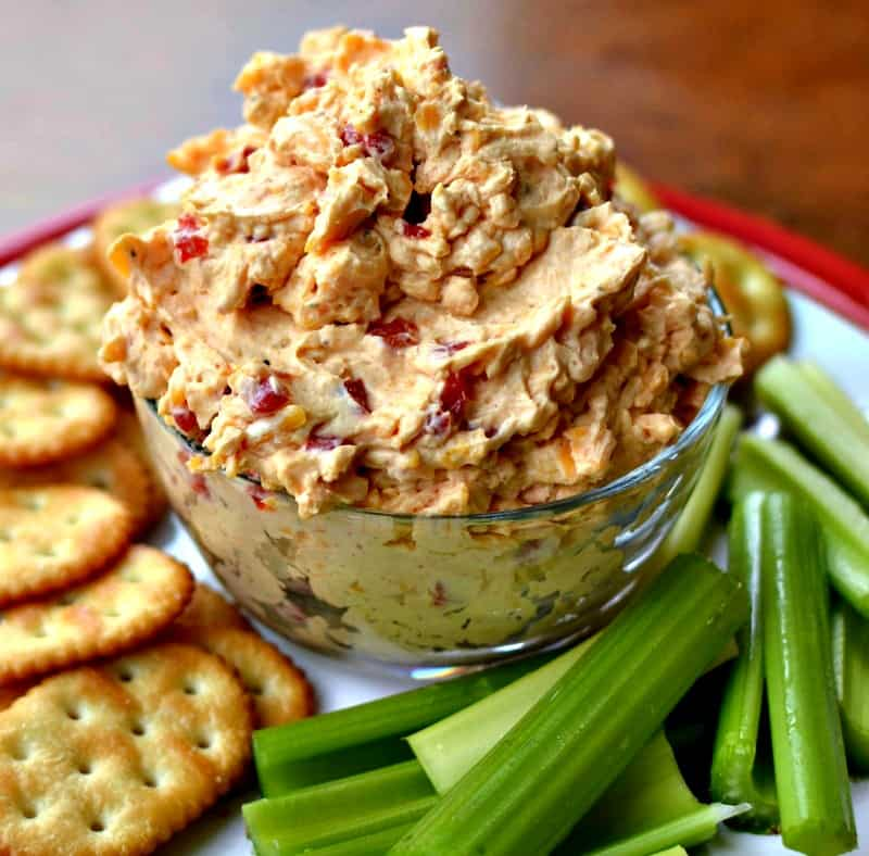 This quick and easy flavor packed Southern Pimento Cheese takes less than ten minutes to make