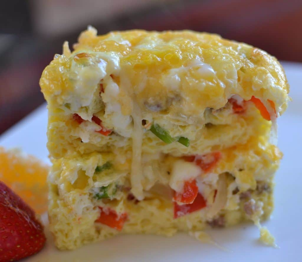 sausage-pepper-egg-bake