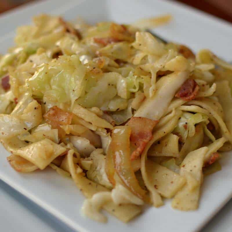 Bacon Cabbage and Noodles