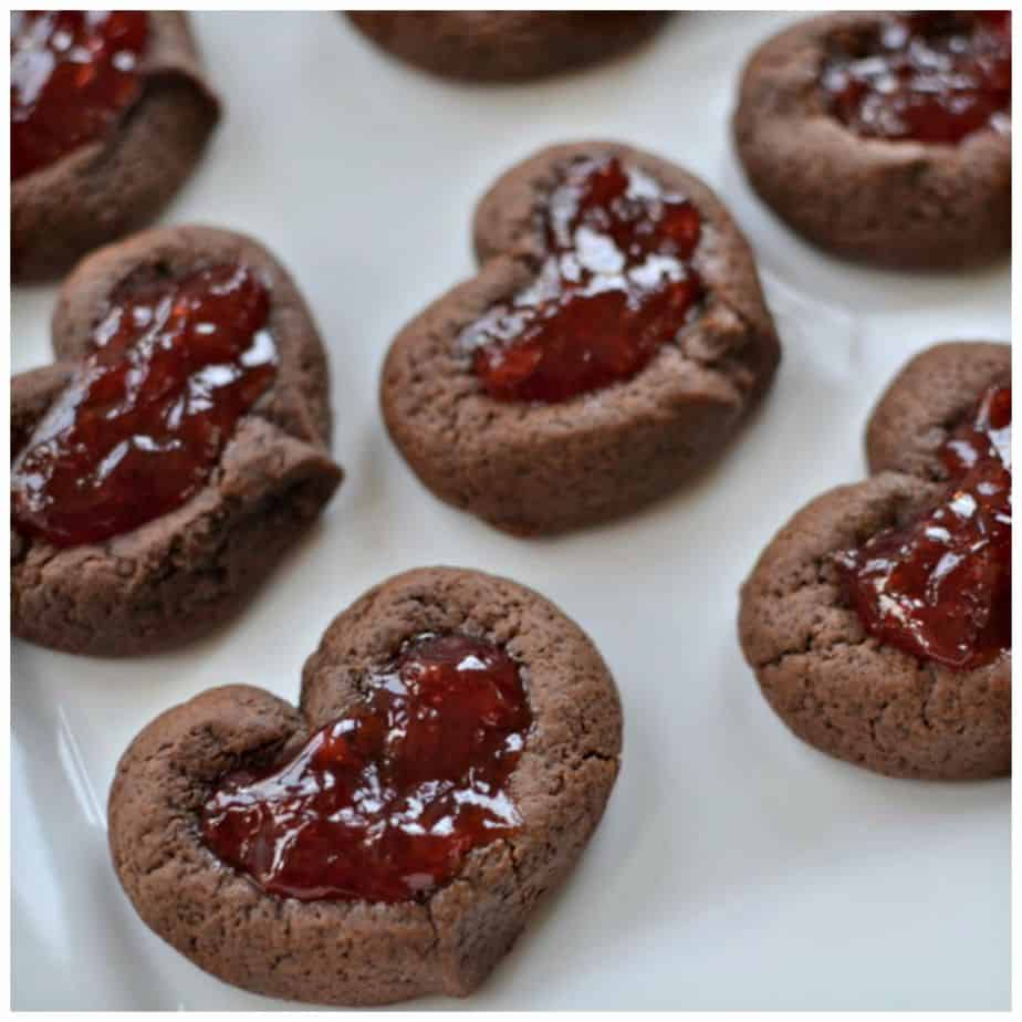 Valentine Chocolate Strawberry Thumbprint Cookies Small Town Woman