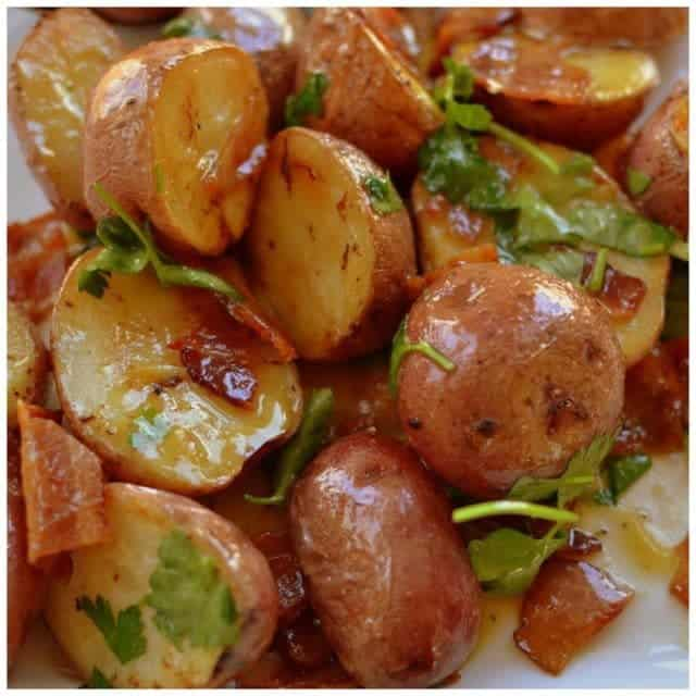 Warm Bacon Honey Mustard Potato Salad! Yummy! smalltownwomanfoodnut
