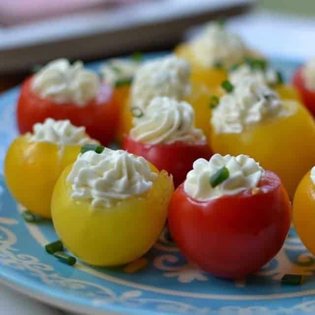 Delicious amp Nutritious! Herb Cream Cheese Stuffed Tomatoes smalltownwomanfoodnut