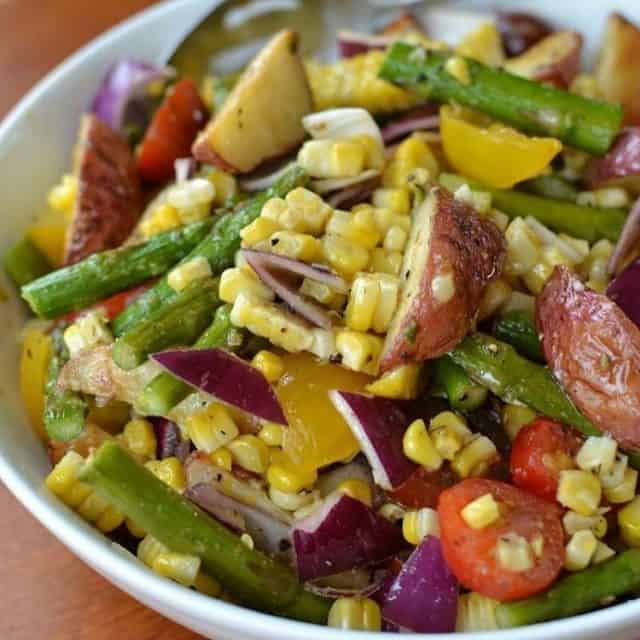This Roasted Vegetable Salad with Lemon Vinaigrette combines fresh roastedhellip
