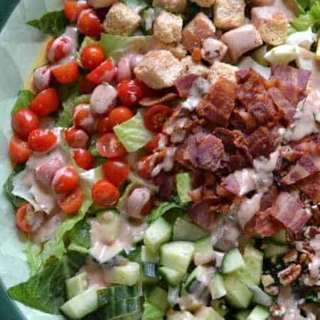 Barbecue Ranch Bacon Tomato Egg Salad