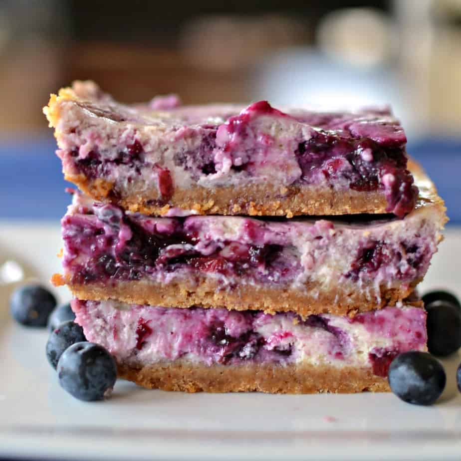 These scrumptious Blueberry Cream Cheese bars bring out the best that the pair has to offer in an easy to make recipe.