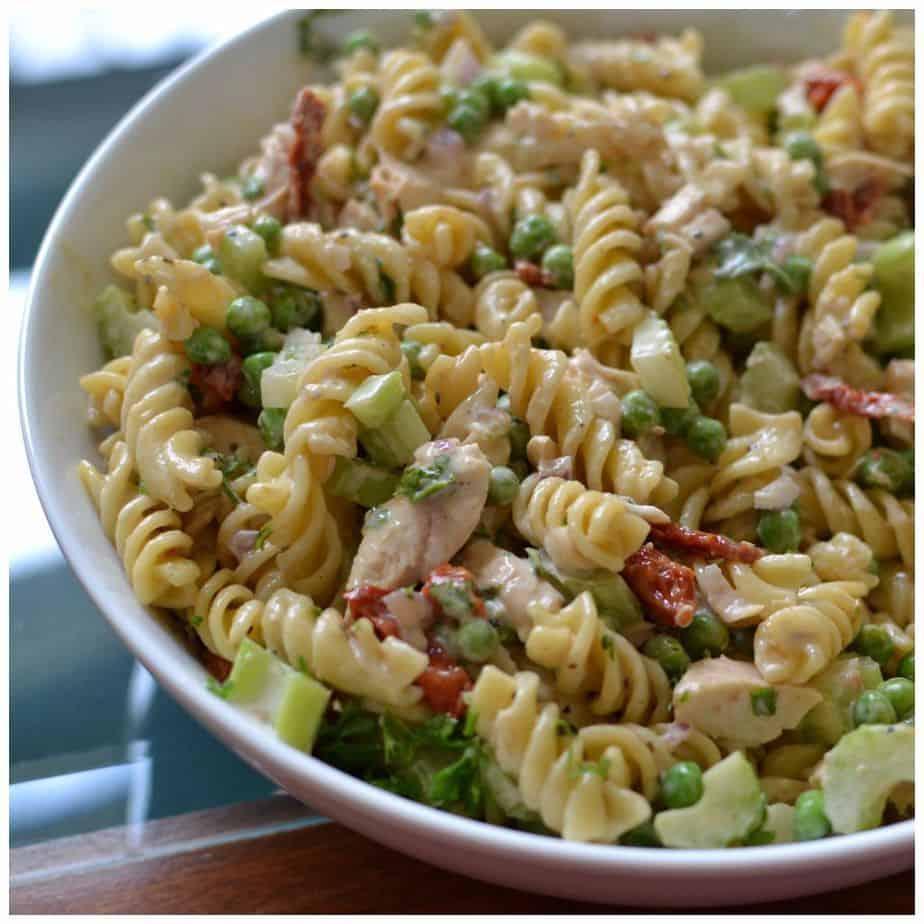 Easy Chicken Caesar Pasta Salad | Small Town Woman