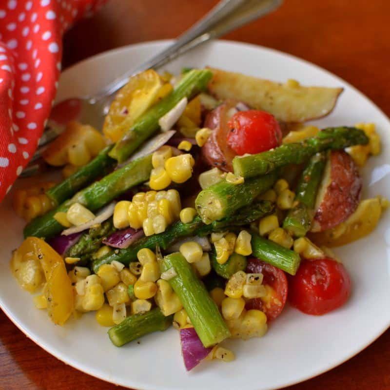 Roasted Vegetable Salad with Lemon Vinaigrette | Small ...