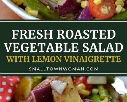 Roasted Vegetable Salad with Lemon Vinaigrette