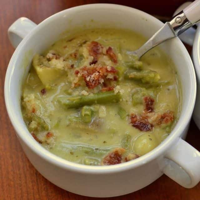This Creamy Asparagus Potato Soup is bursting with fresh asparagushellip