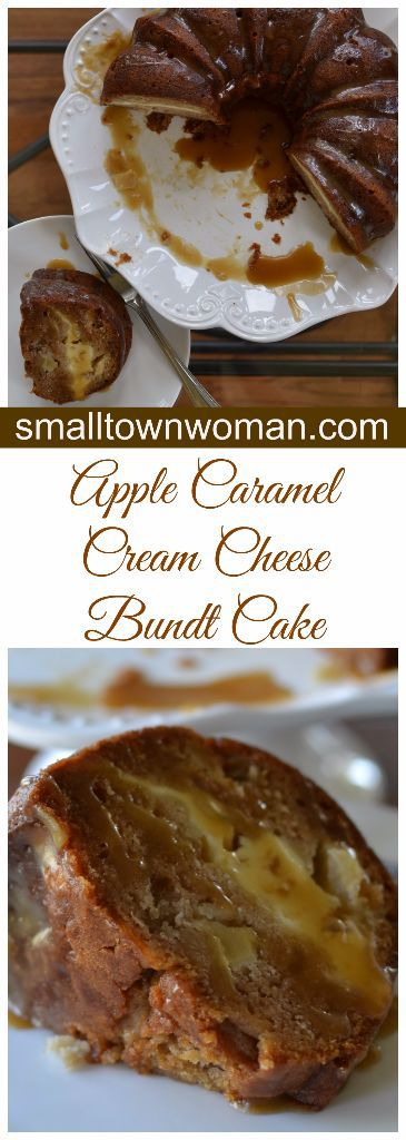 Apple Caramel Cream Cheese Bundt Cake Recipe from Small Town Woman
