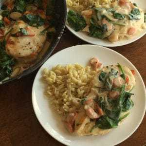 Asiago Chicken with Spinach Shallots Carrots (6) | Small ...