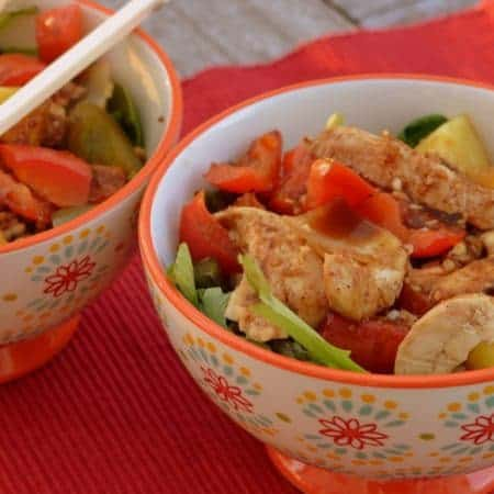 Chicken and Veggie Sheet Pan Bowls
