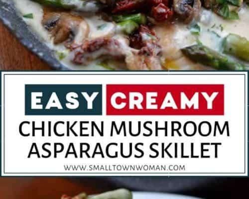 Easy Creamy Chicken Mushroom Asparagus Skillet
