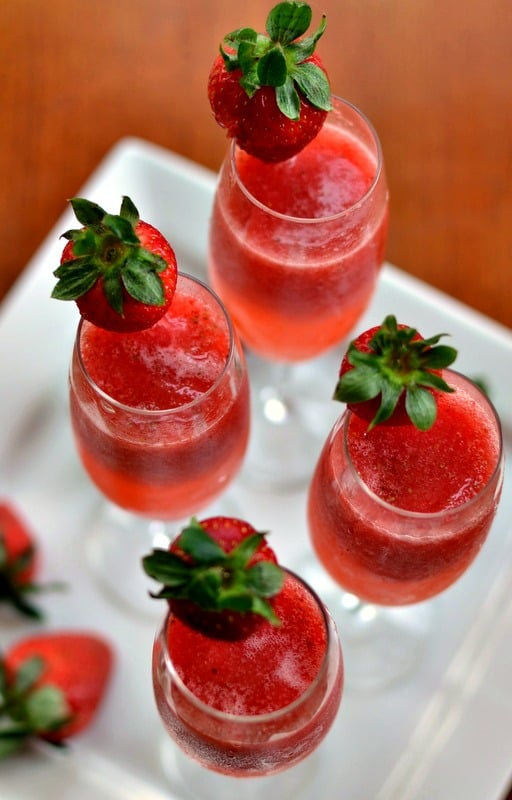 Strawberry Champagne Mimosa Recipe