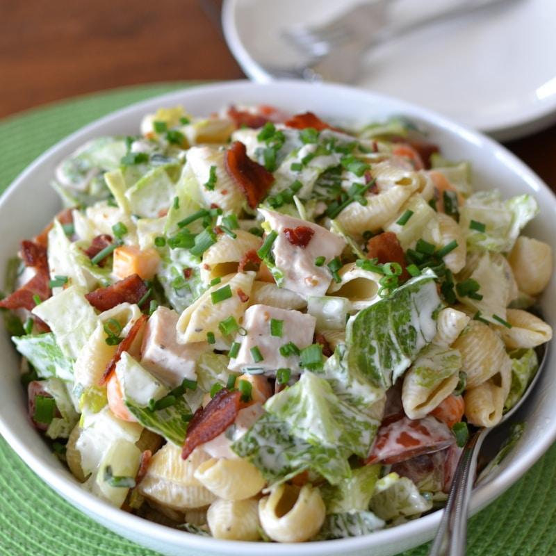 Quick Easy Turkey Club Pasta Salad | Small Town Woman