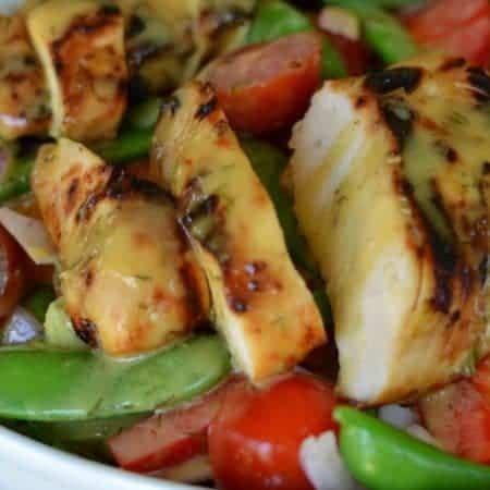 Honey Mustard Chicken Snap Pea Salad