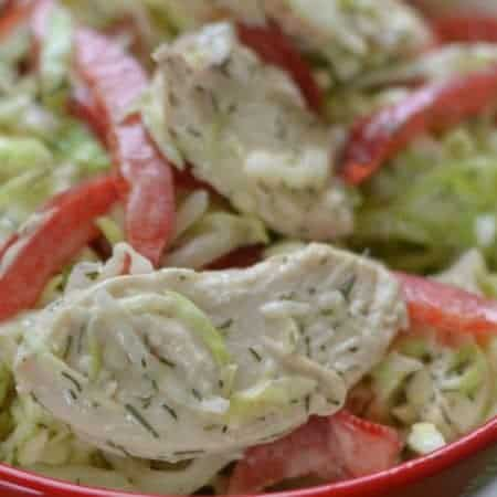 Sweet Dill Chicken Cabbage Slaw