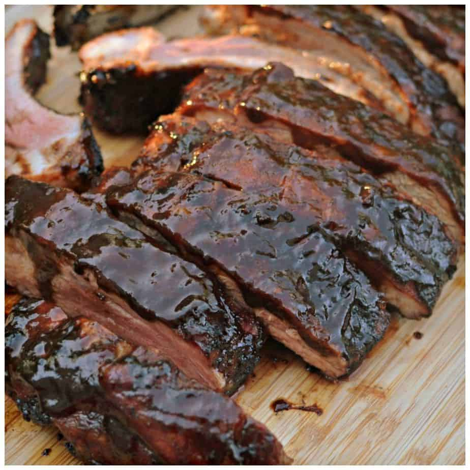 Balsamic Vinegar Barbecue Ribs have a rich barbecue sauce that's perfectly sweet and tangy