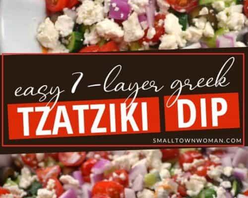Easy 7 Layer Greek Tzatziki Dip