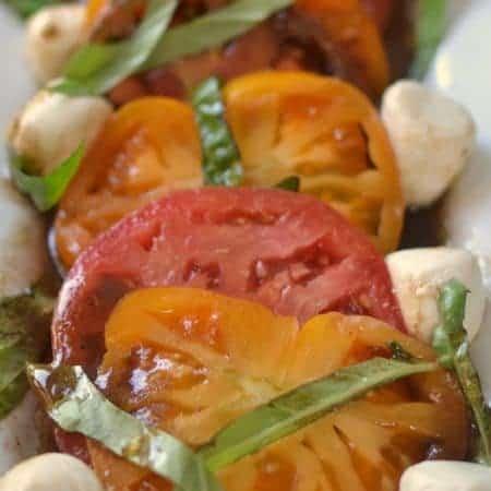 Heirloom Tomato Balsamic Vinaigrette Salad
