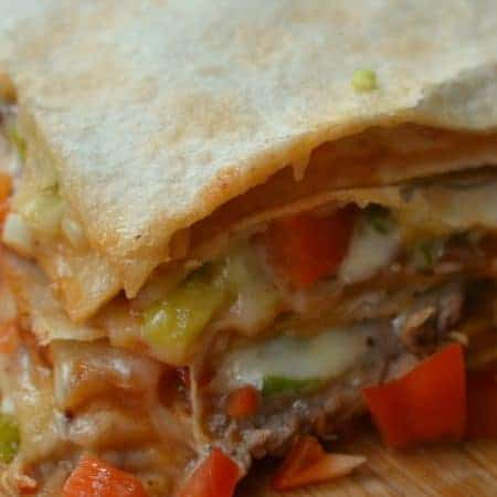 Barbecue Steak and Pepper Jack Quesadilla