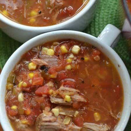 Blackened Corn and Smoked Pork Soup