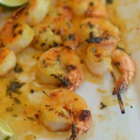 Easy Grilled Orange Garlic Shrimp
